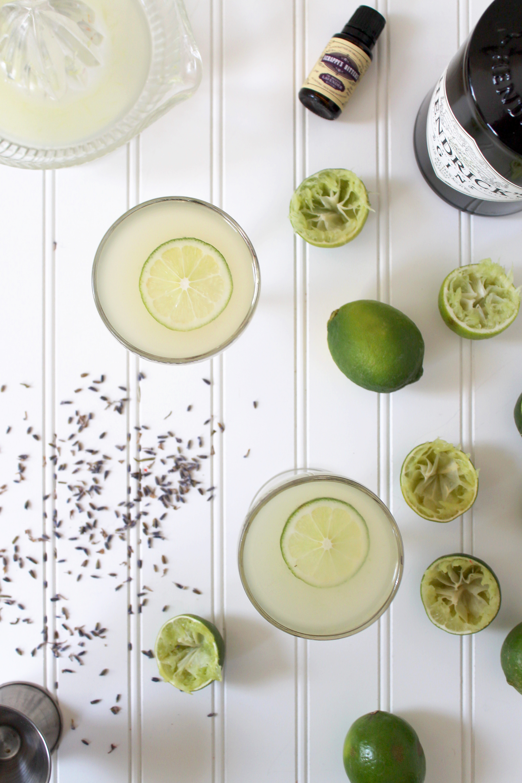 Lavender Gimlet Recipe via Unusually Lovely