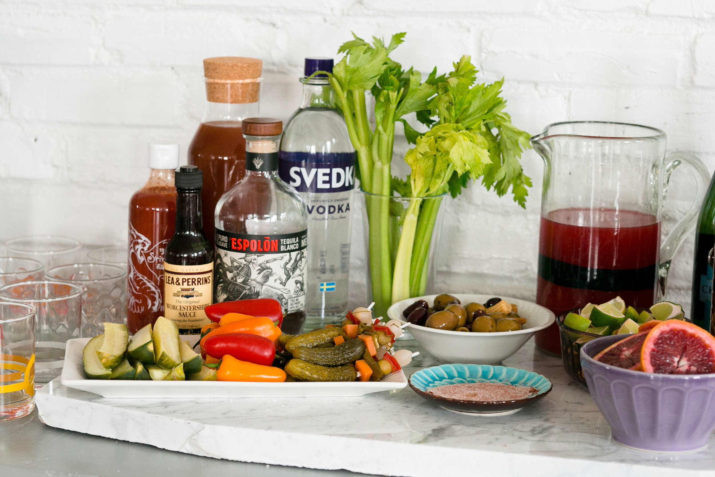 How to Make a Bloody Mary Bar on UnusuallyLovely.com
