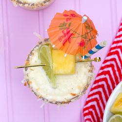 pineapple coconut frozen margaritas