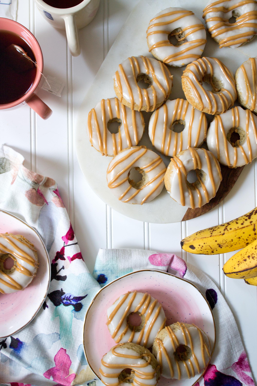 Peanut Butter Banana Donuts via Unusually Lovely Blog