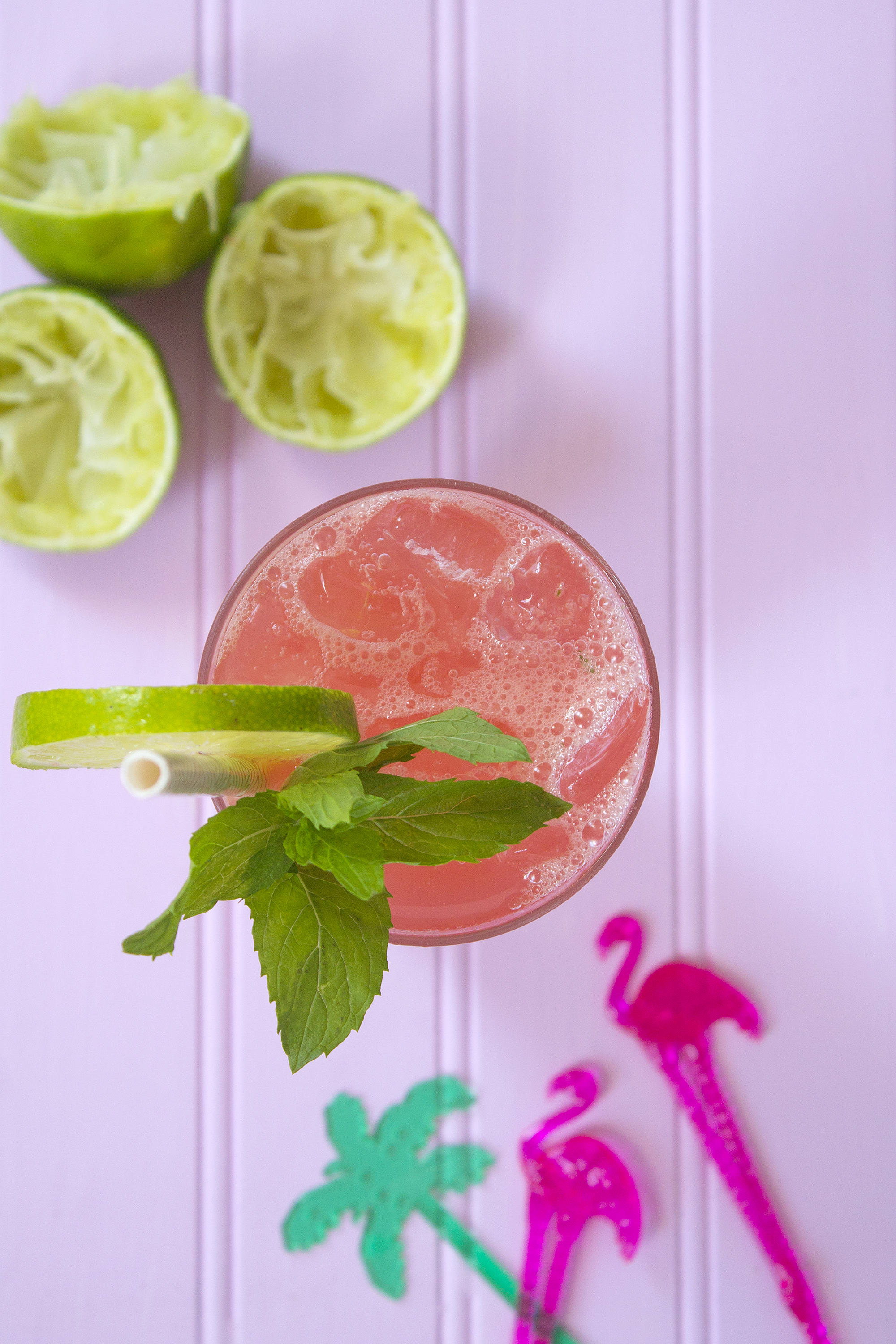Watermelon Mojito Cocktail from UnusuallyLovely.com
