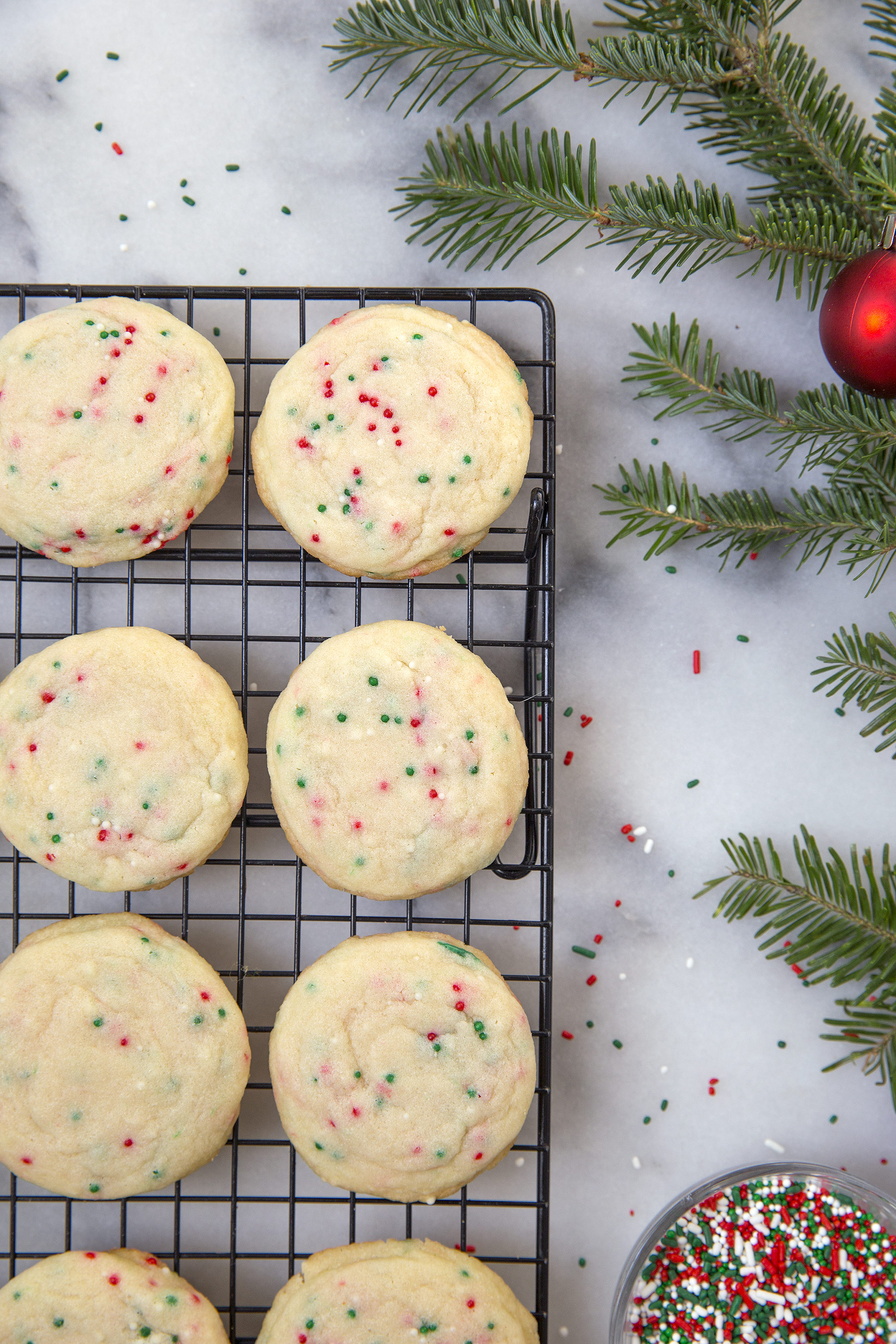 Soft Funfetti Sugar Cookies via UnusuallyLovely.com