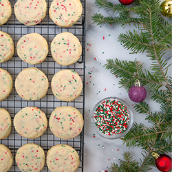funfetti cookies for christmas