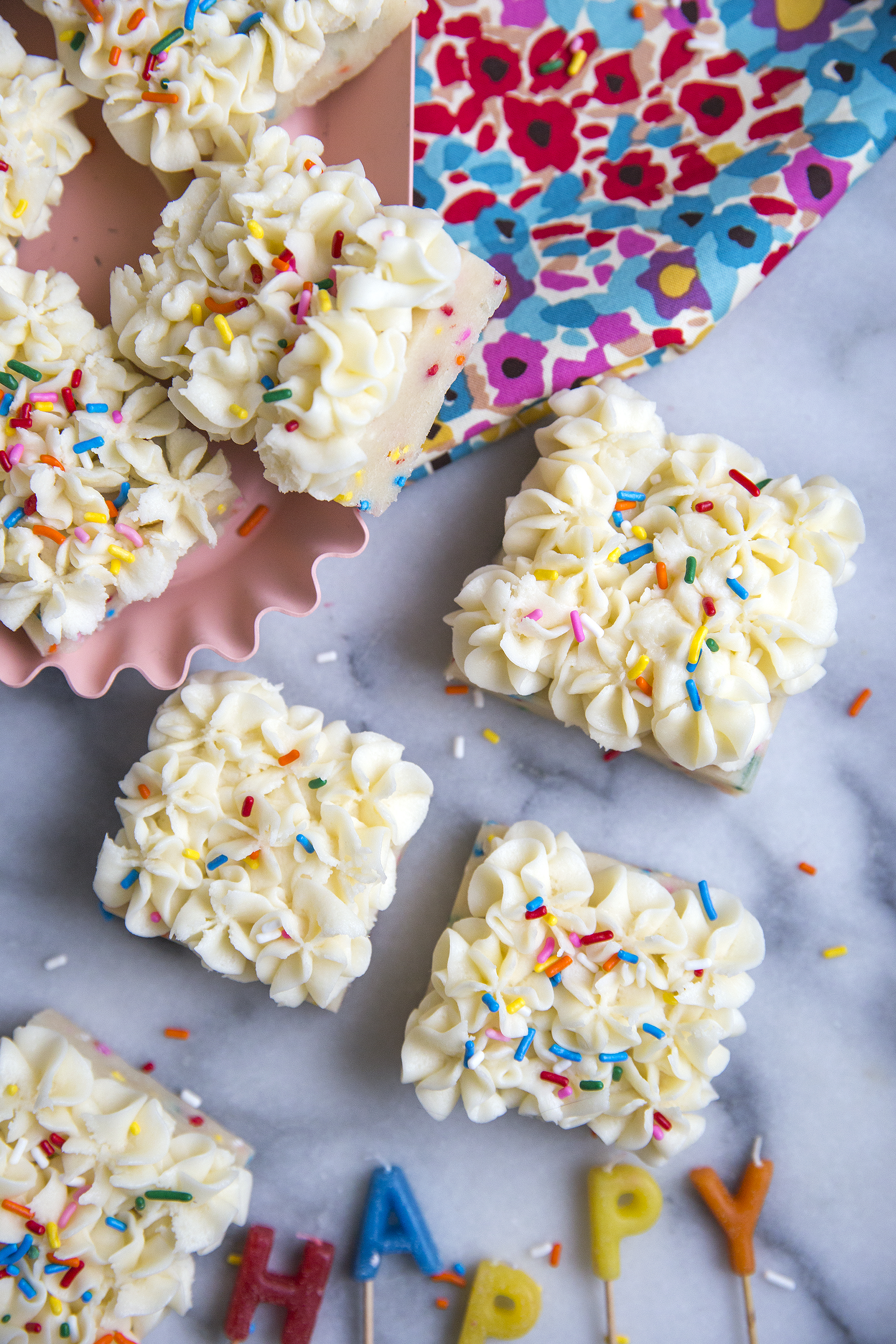 Birthday Cake Bars via the Unusually Lovely Blog