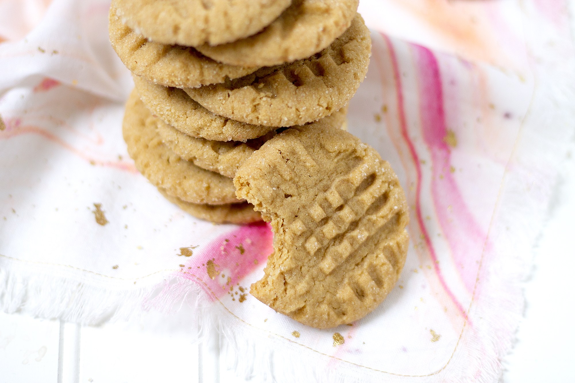 Classic Peanut Butter Cookies but with a made a little better with extra salt. Get the recipe: unusuallylovely.com