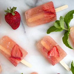 Strawberry Mojito Popsicles
