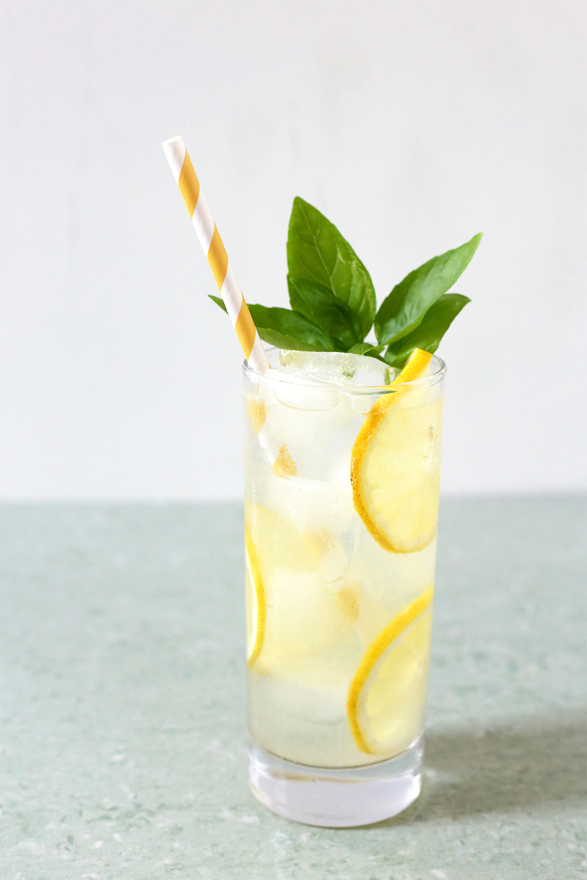 Summer in a glass: Boozy & Bubbly Basil Lemonade. Get the recipe: unusuallylovely.com