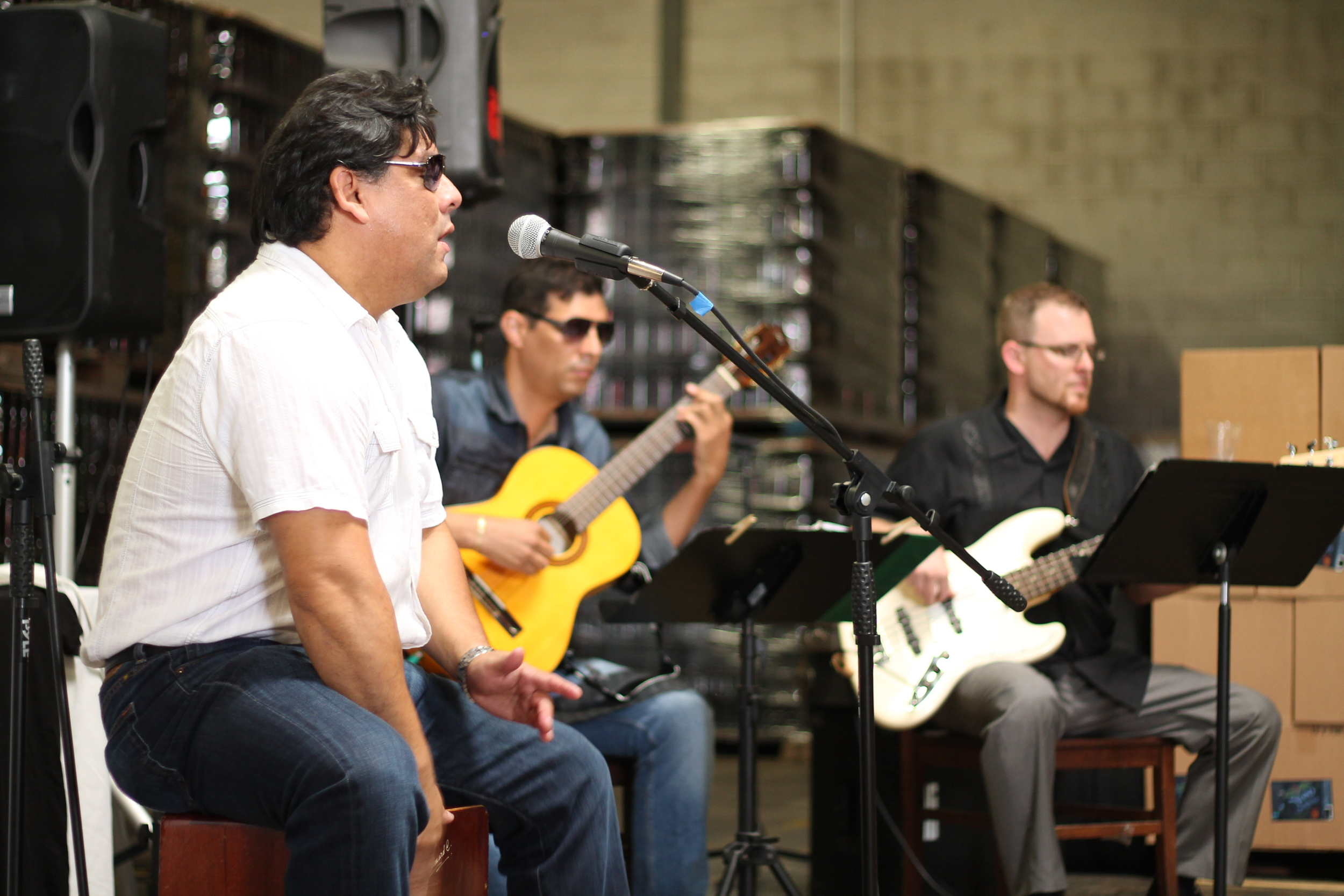 Live Latin American tunes and DJs provided background grooves.