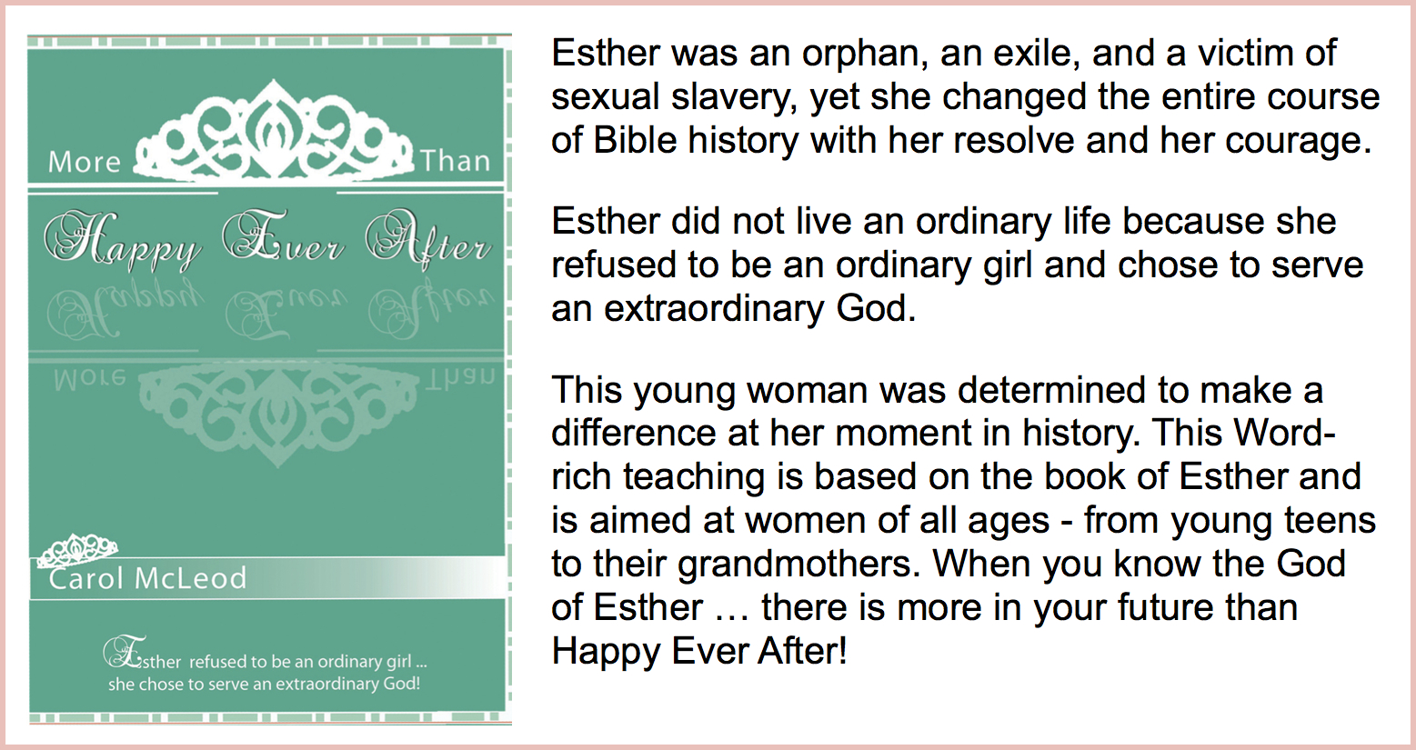 More Than Happy Ever After  Teaching Download - $25