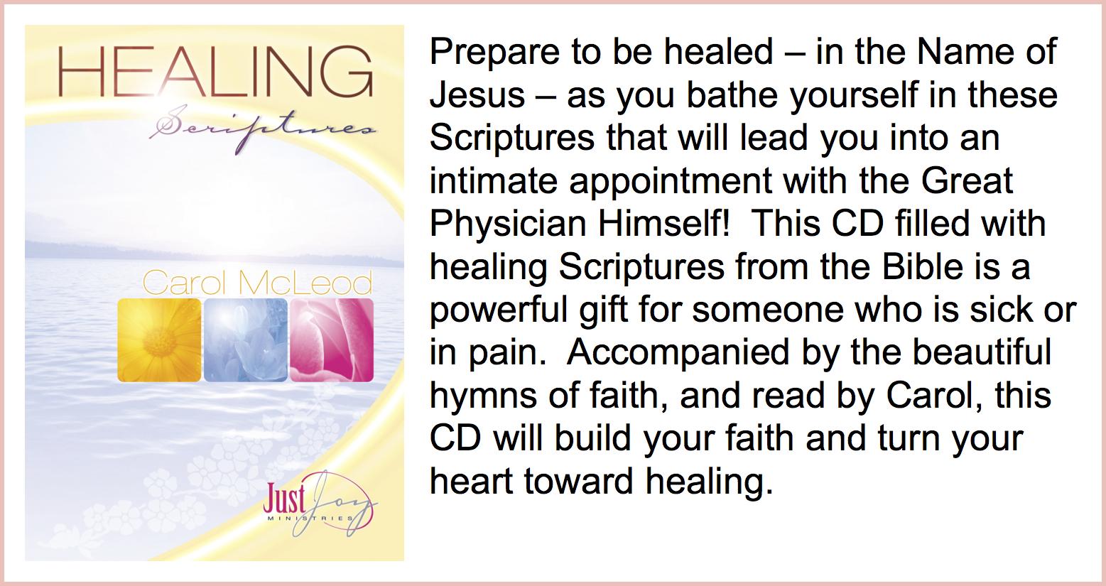 Healing Scriptures Download - $10