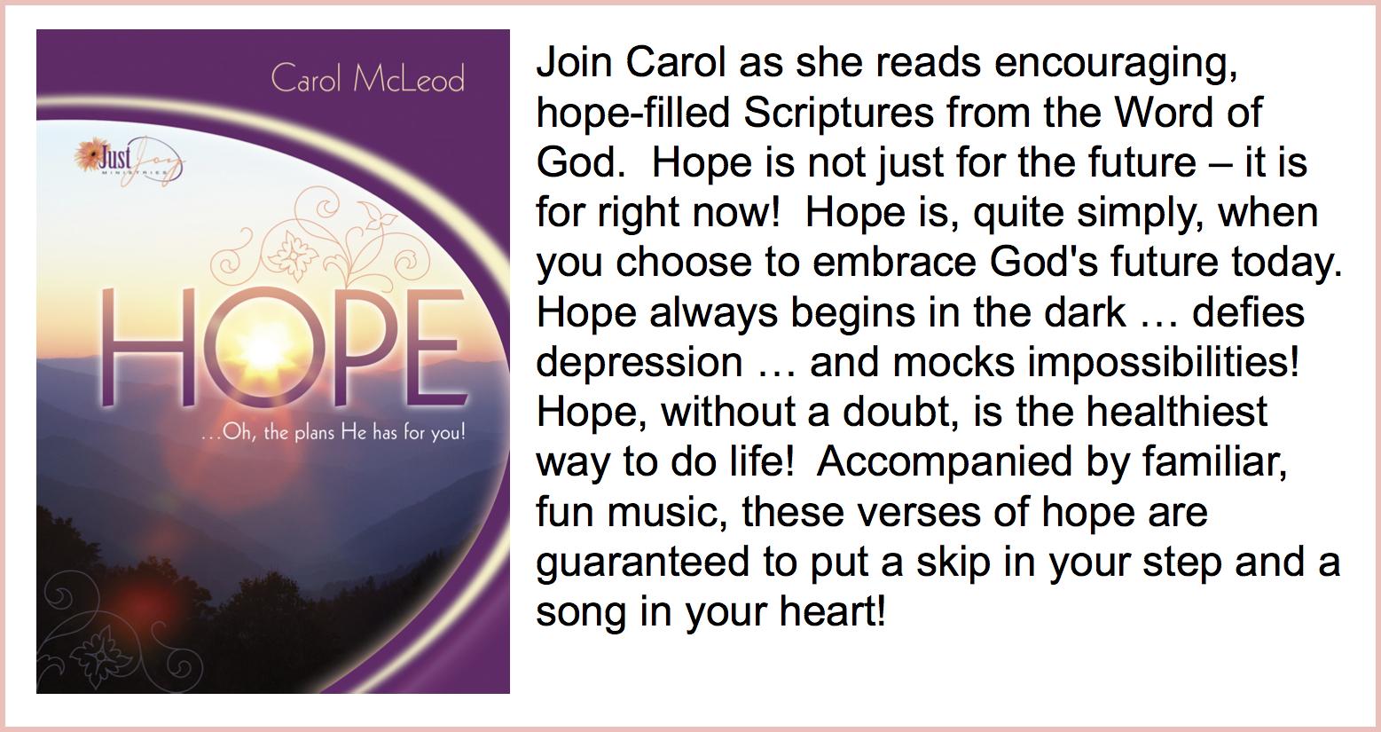Hope  CD - $5   Hope  Download - $10