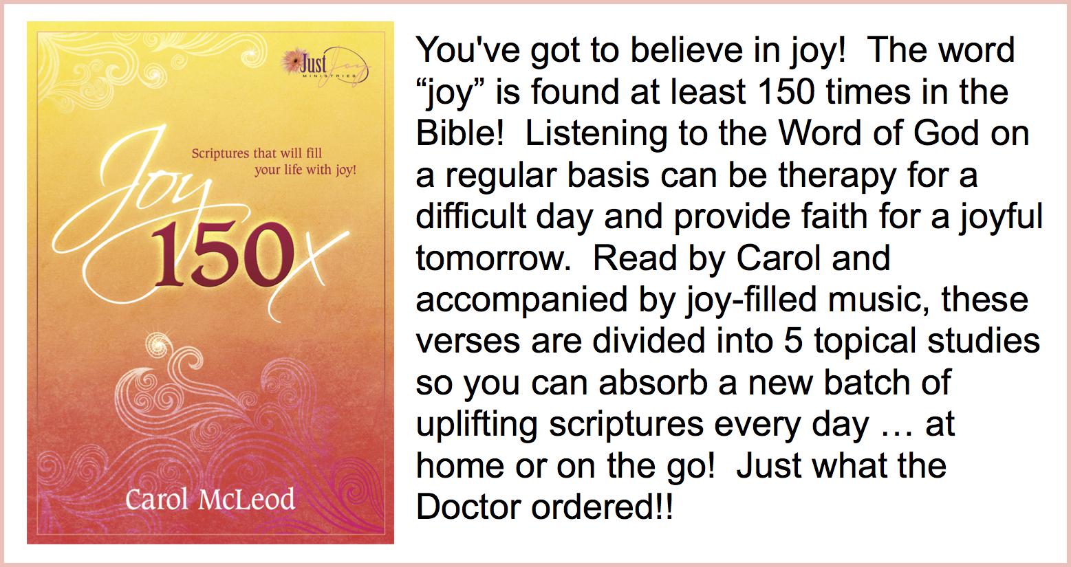 Joy 150x  CD - $5   Joy 150x Download - $10