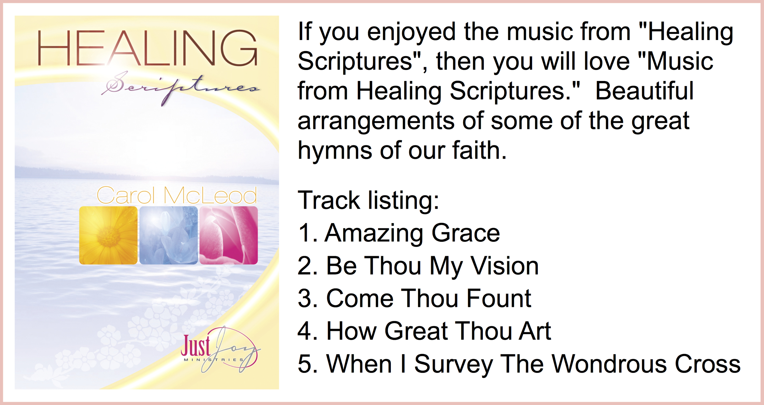 Music from Healing Scriptures Download - $5