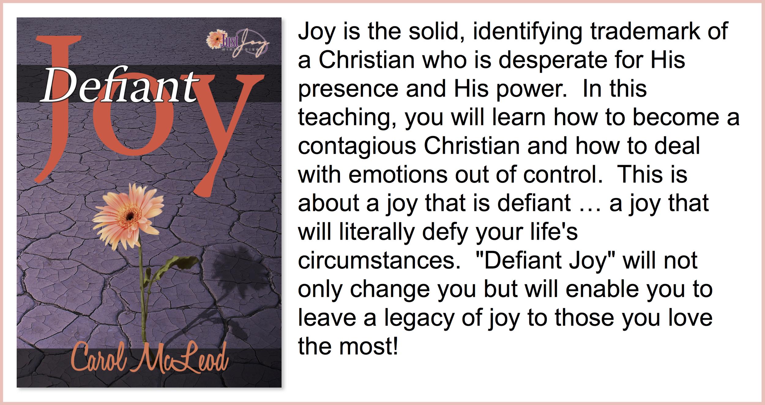 Defiant Joy  - $15