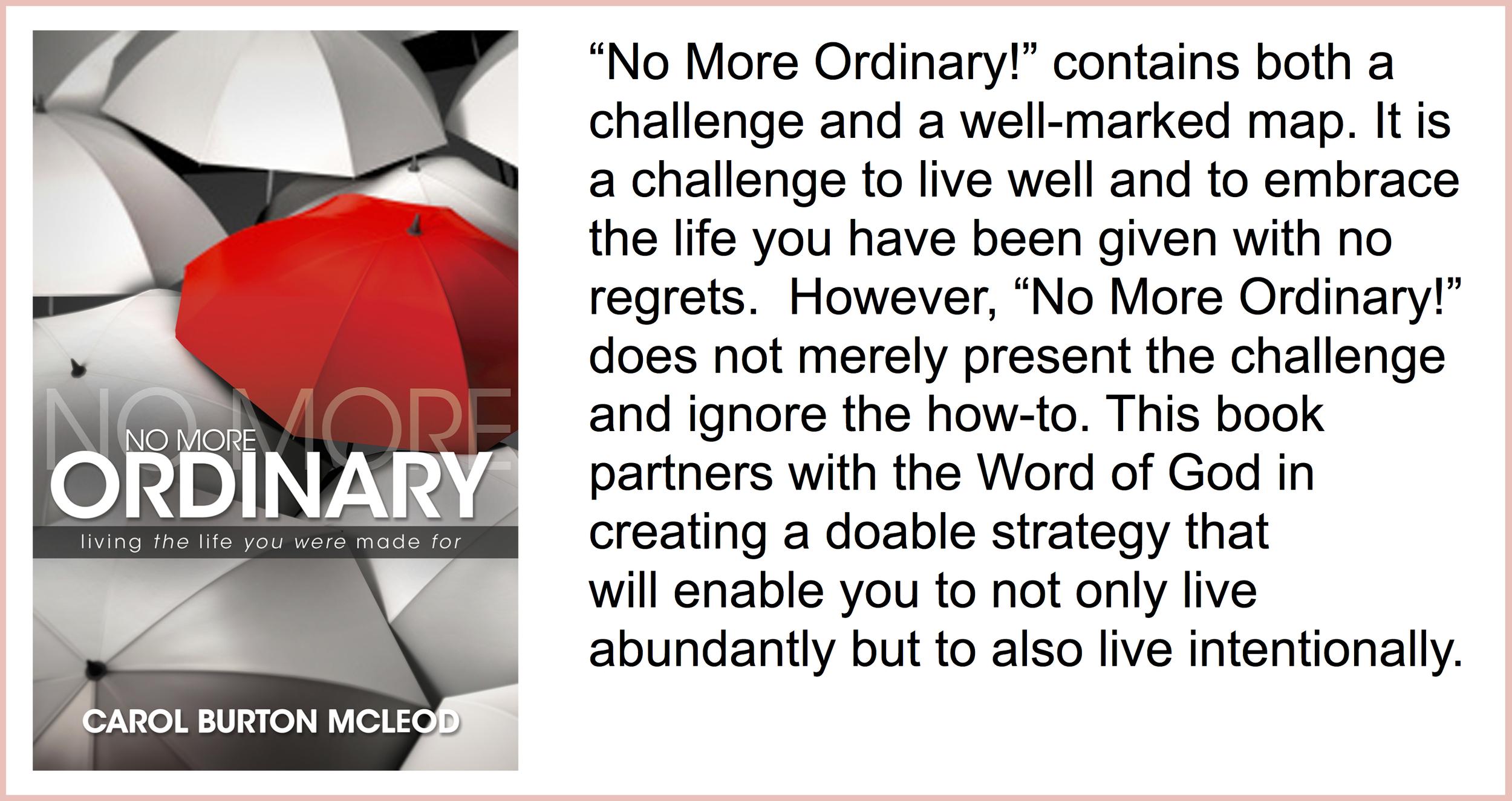 No More Ordinary  - $15