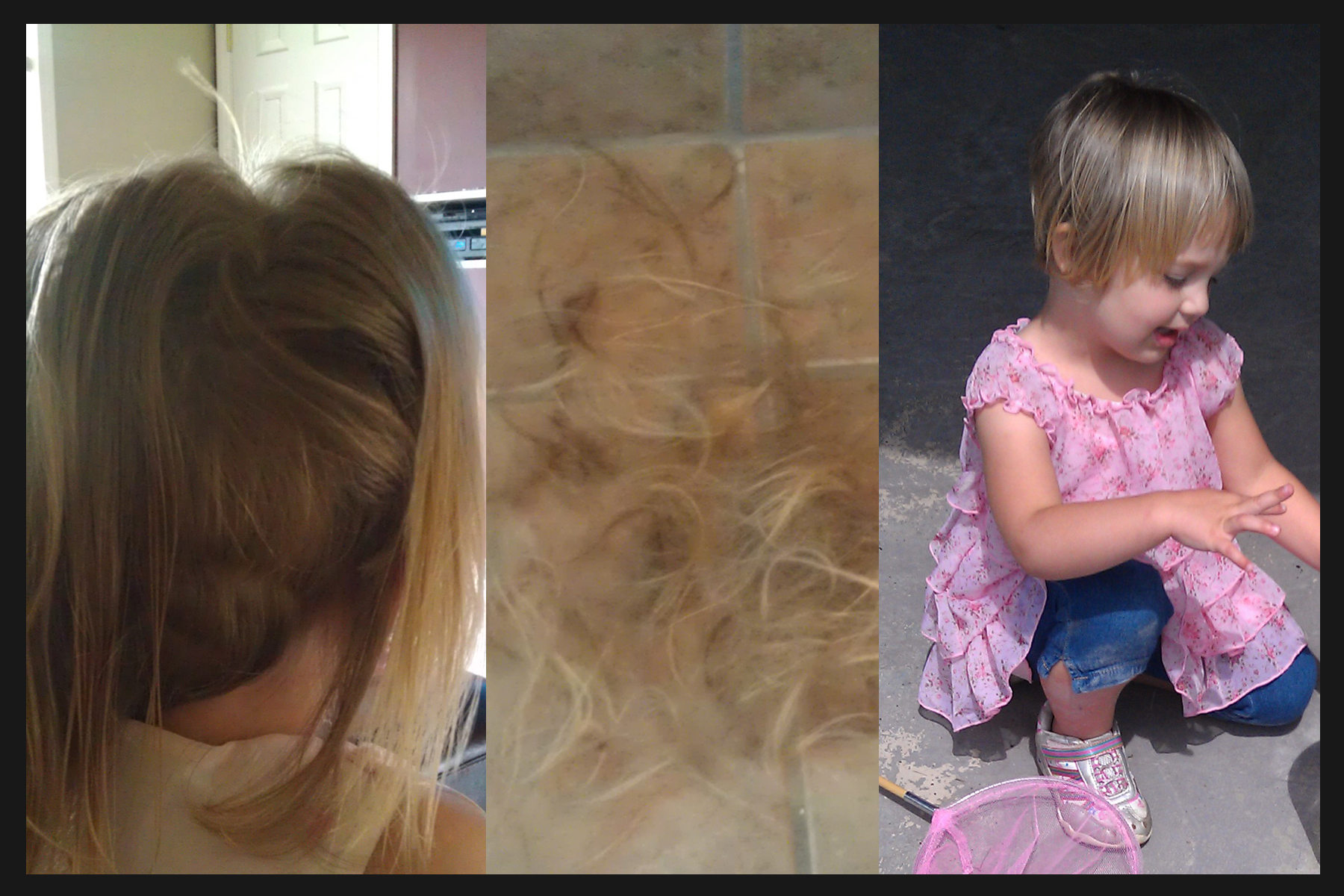 3 year old Jaiden decided to take matters into her own hands when it came to a new hairstyle.