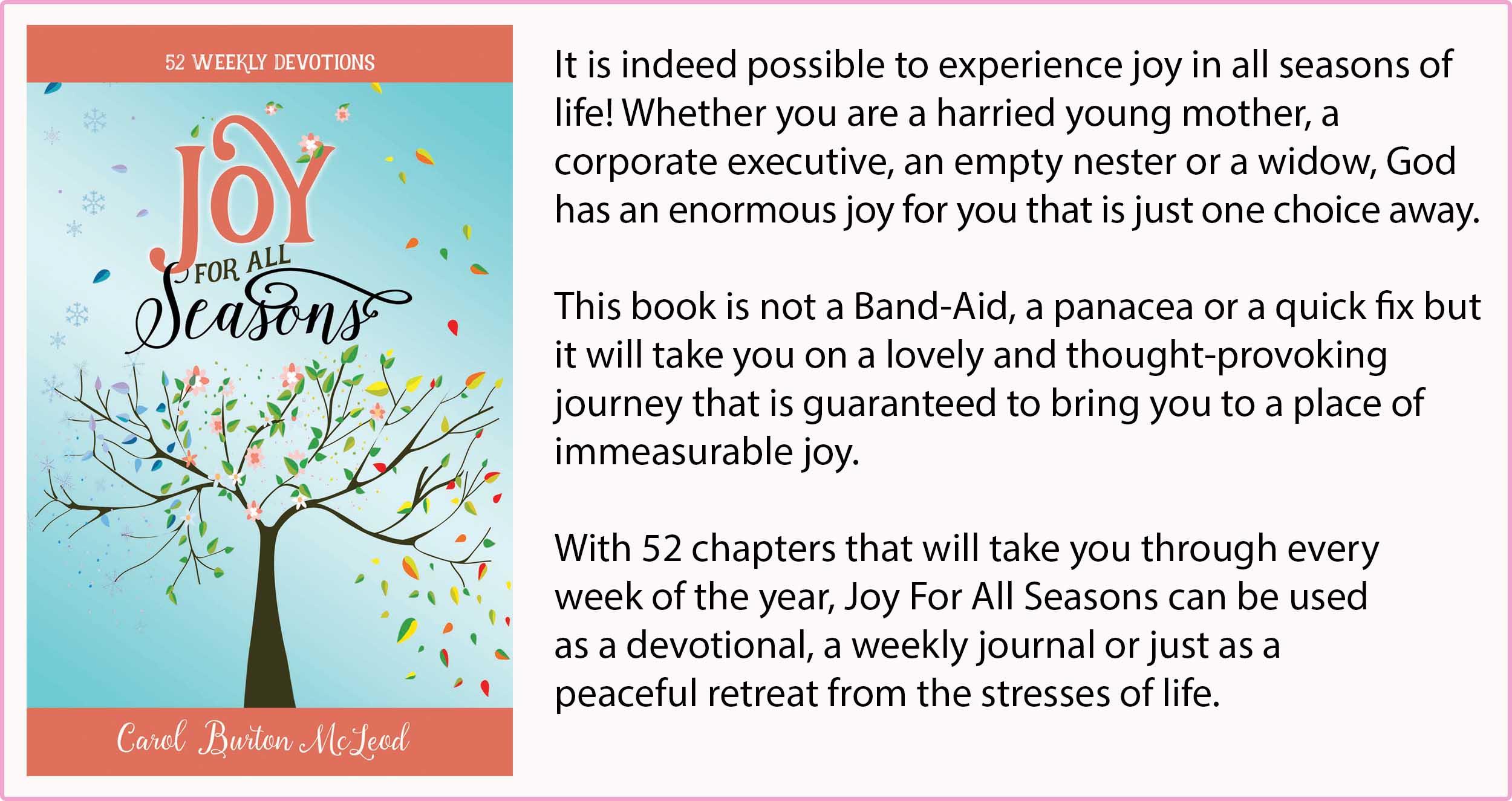 Joy for All Seasons  - $20