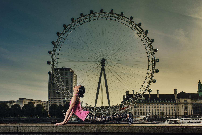 Yoga photography London Eye