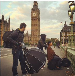 Westminster Bridge Photoshoot