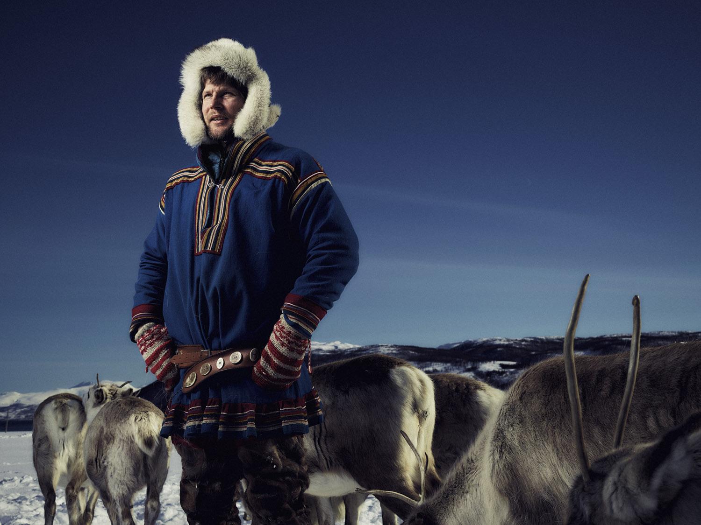 Sami people portrait