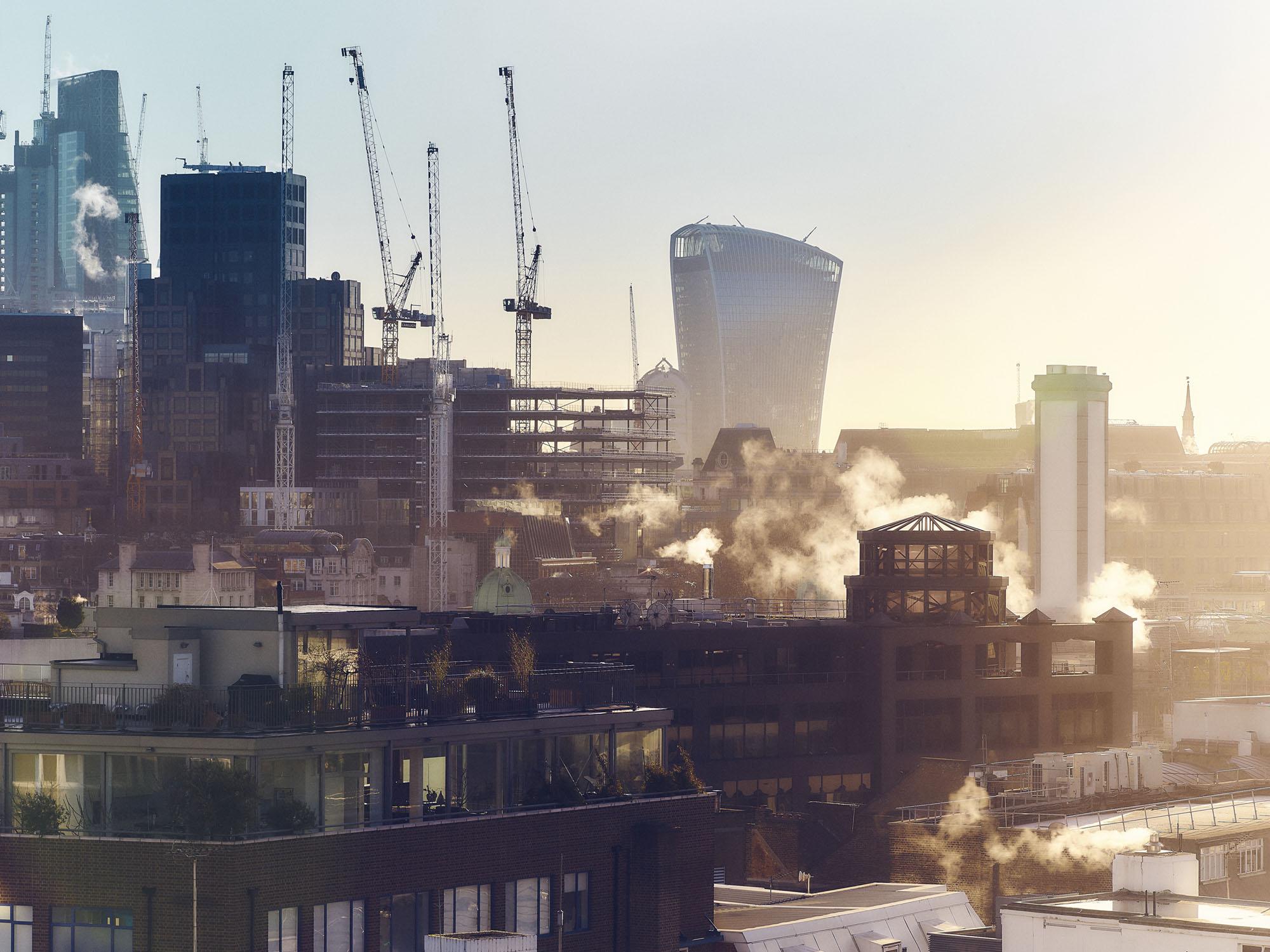 The City of London sunrise
