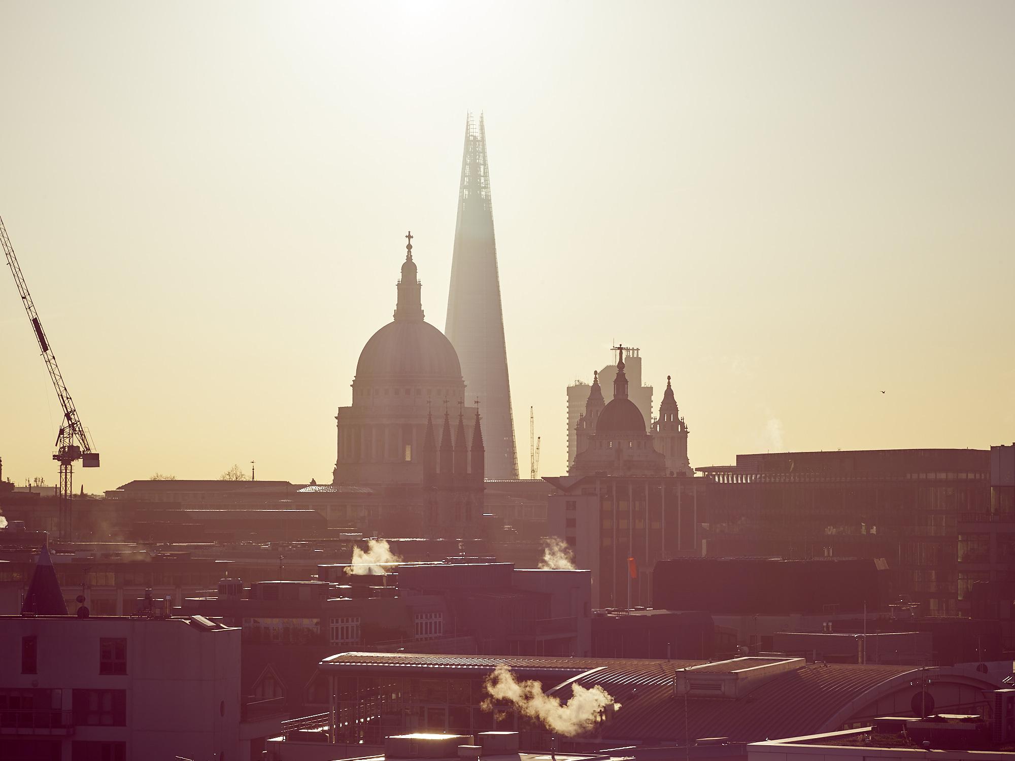 shard st paul's london sunrise