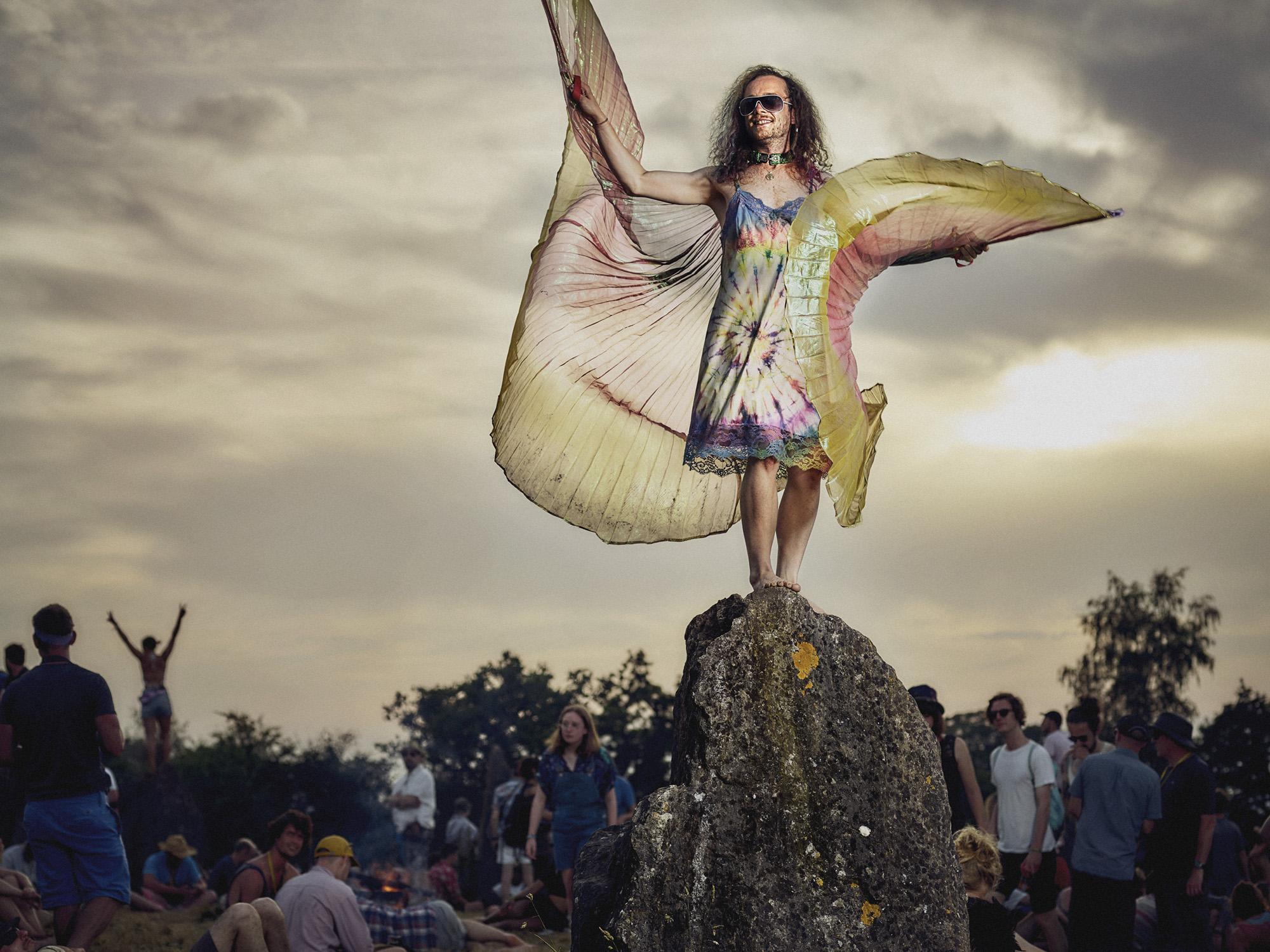 Bertram - a stone circle angel on Summer Solstice