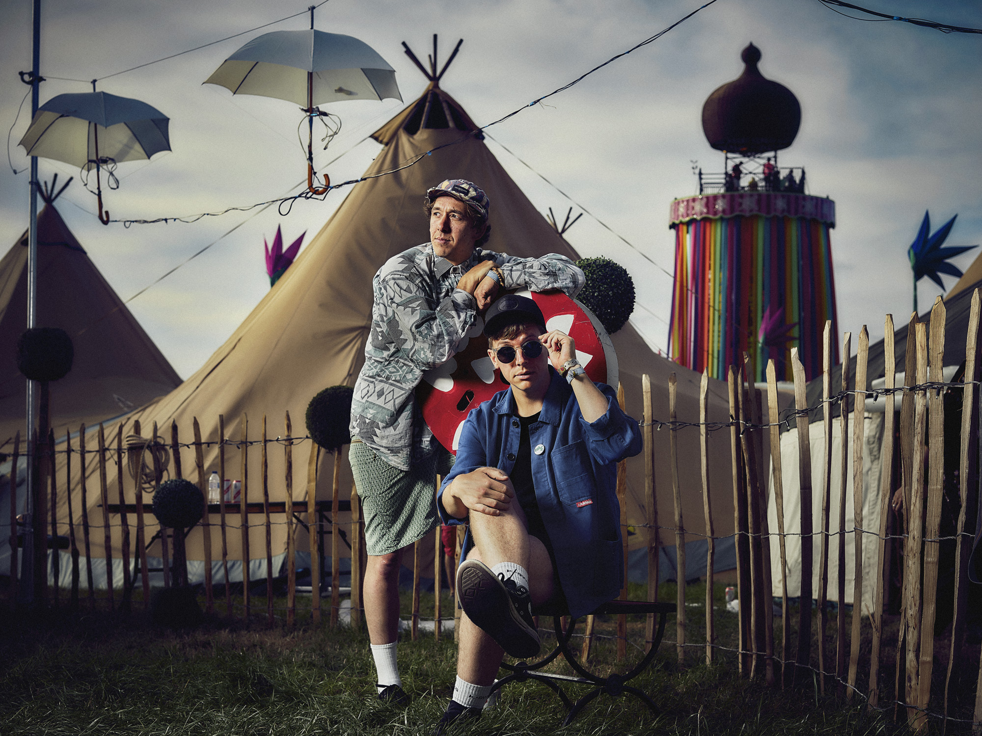 Nick & Toby from WOWH - an impressive four gigs at Glastonbury 2017