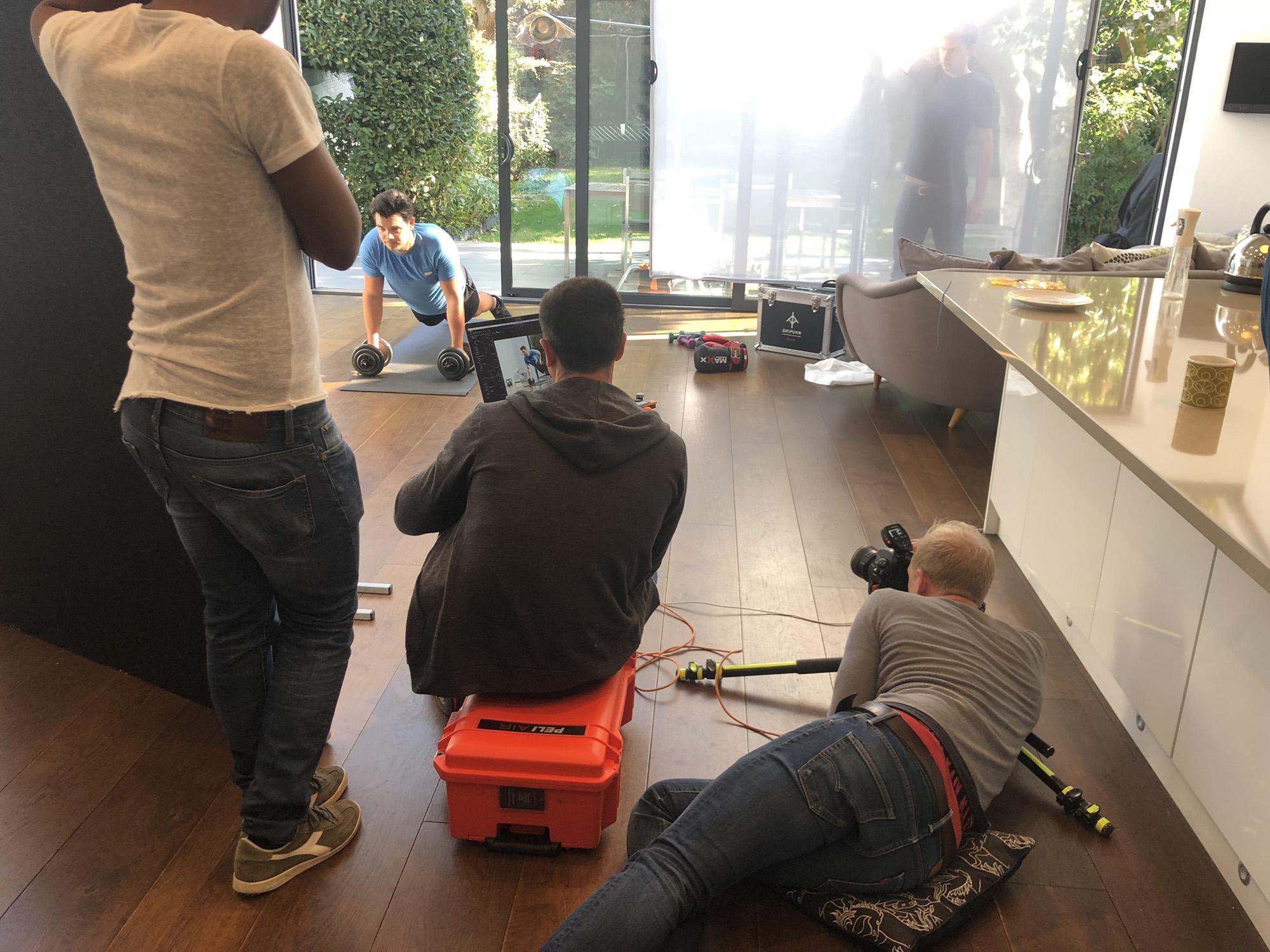 behind the scenes photoshoot