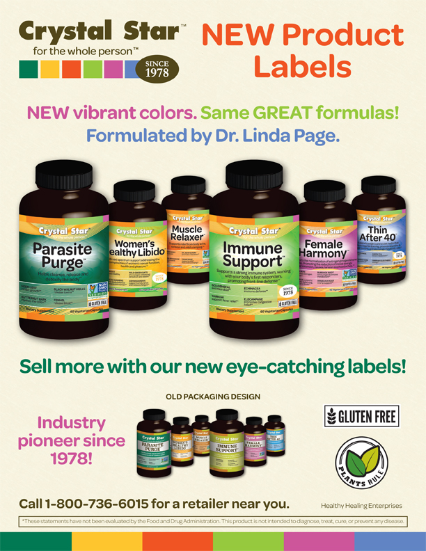 New Crystal Star Product Labels