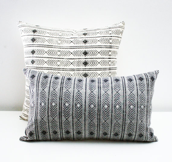 Feather Print Pillow