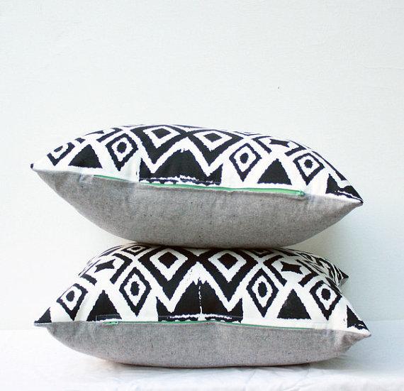 Diamonds in the Rough Ikat Pillow
