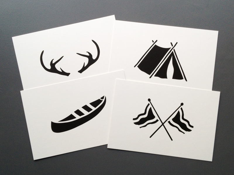 Camp Icon Cards