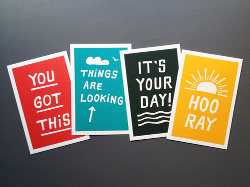looking up inspiration cards