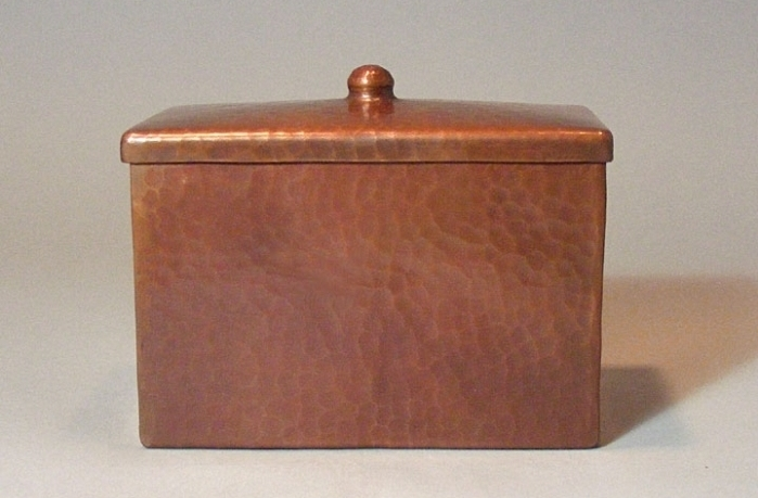 Unique Copper Recipe Box