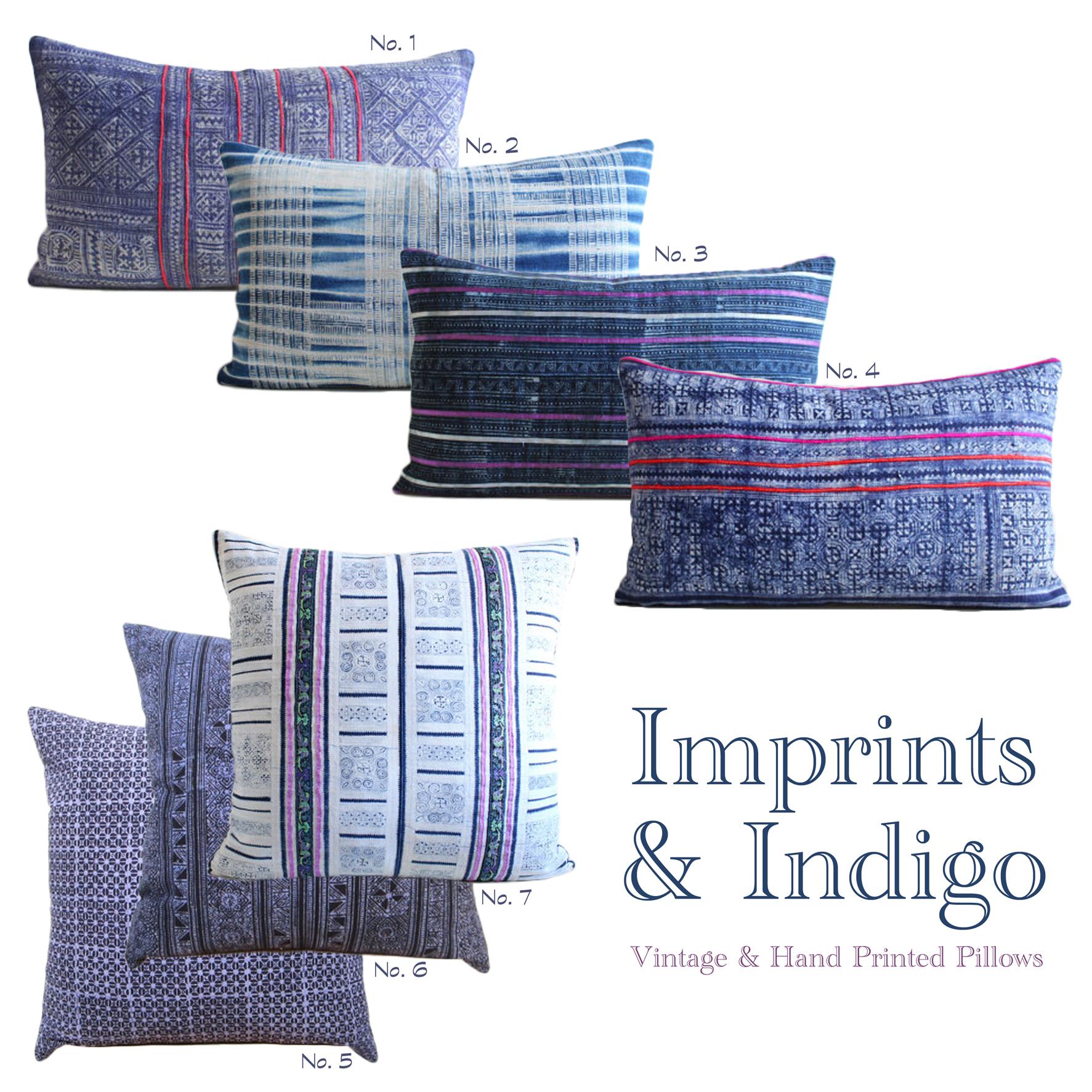 Vintage & Hand Printed Throw Pillows