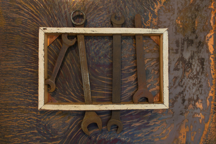 One of a Kind Apartments spanner sculpture