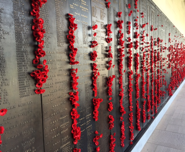 Wall of Remembrance at the War Memorial, Canberra