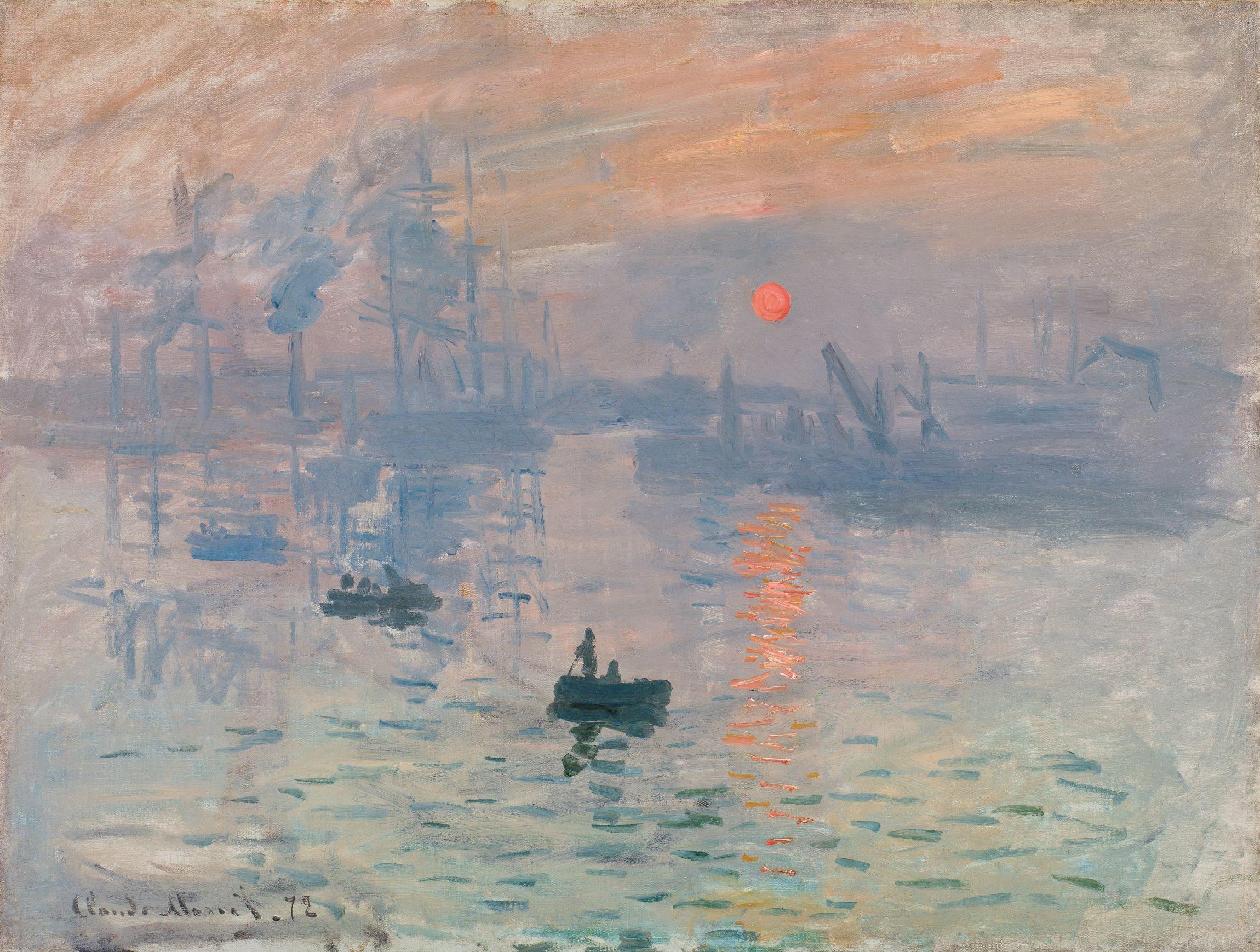 Claude Monet  Impression, sunrise [Impression, soleil levant] 1872 Gift of Victorine and Eugène Donop de Monchy 1940 Musée Marmottan Monet