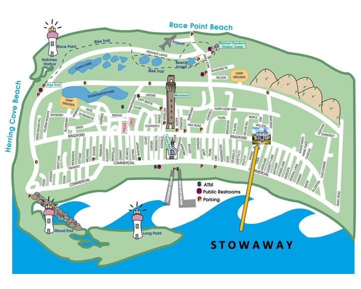 S T O W A W A Y is located right in the heart of Provincetown.