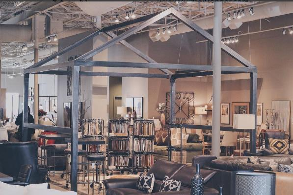 STEEL FRAME KIOSK - ERDOS AT HOME - DALLAS, TX - 2015  Unique furniture store with great designs.