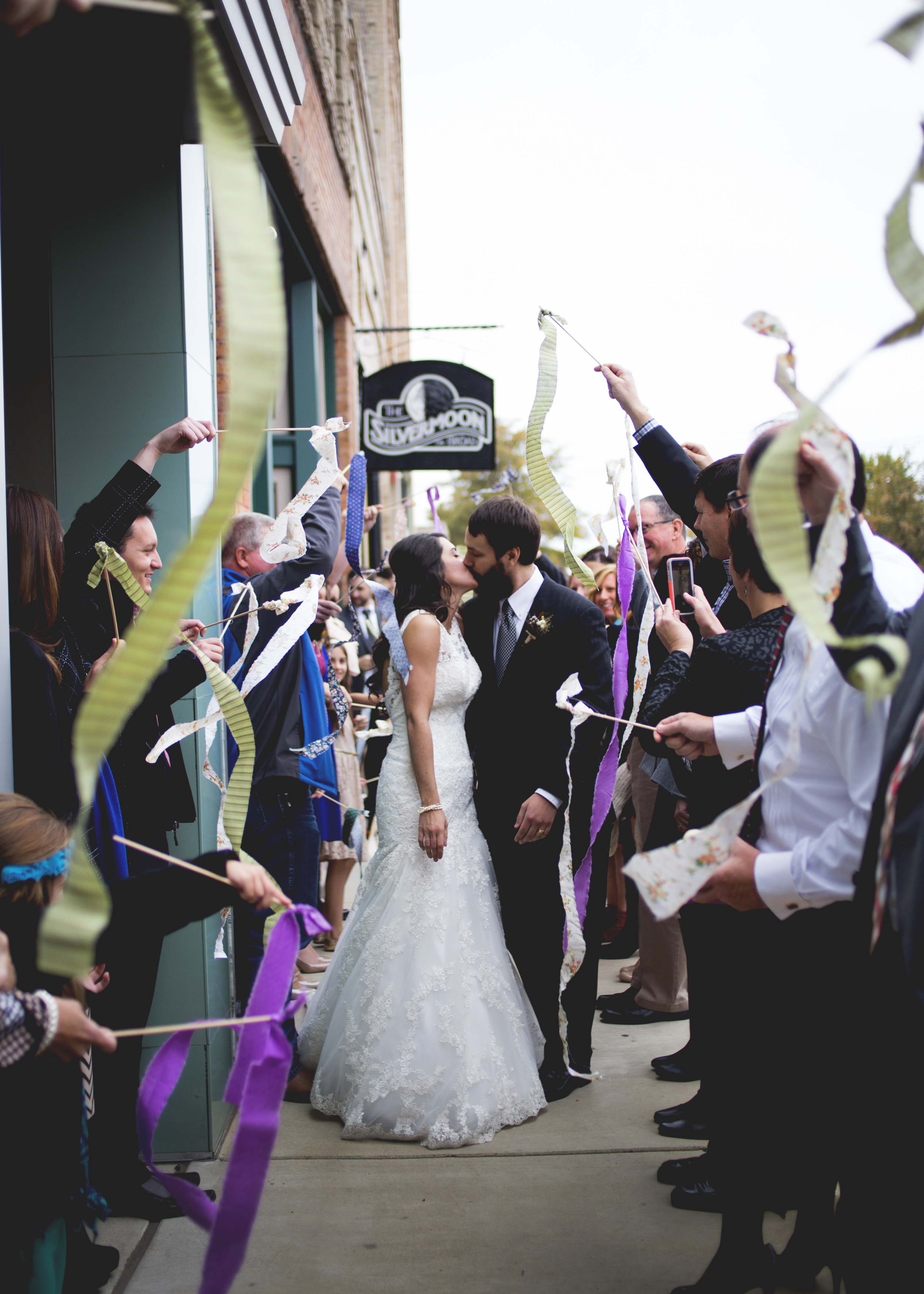 Ribbons- fantastic idea for a daytime exit!