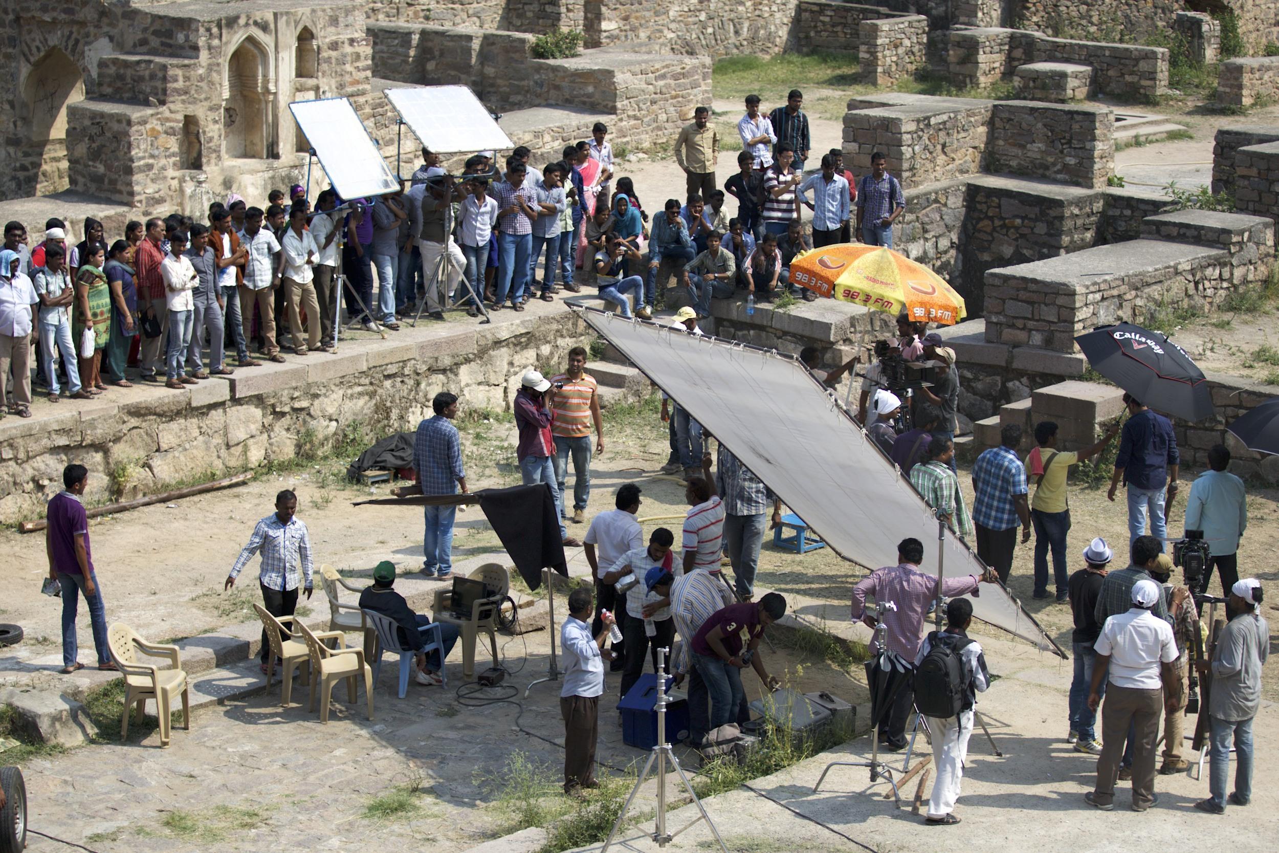 Bollywood Movie set
