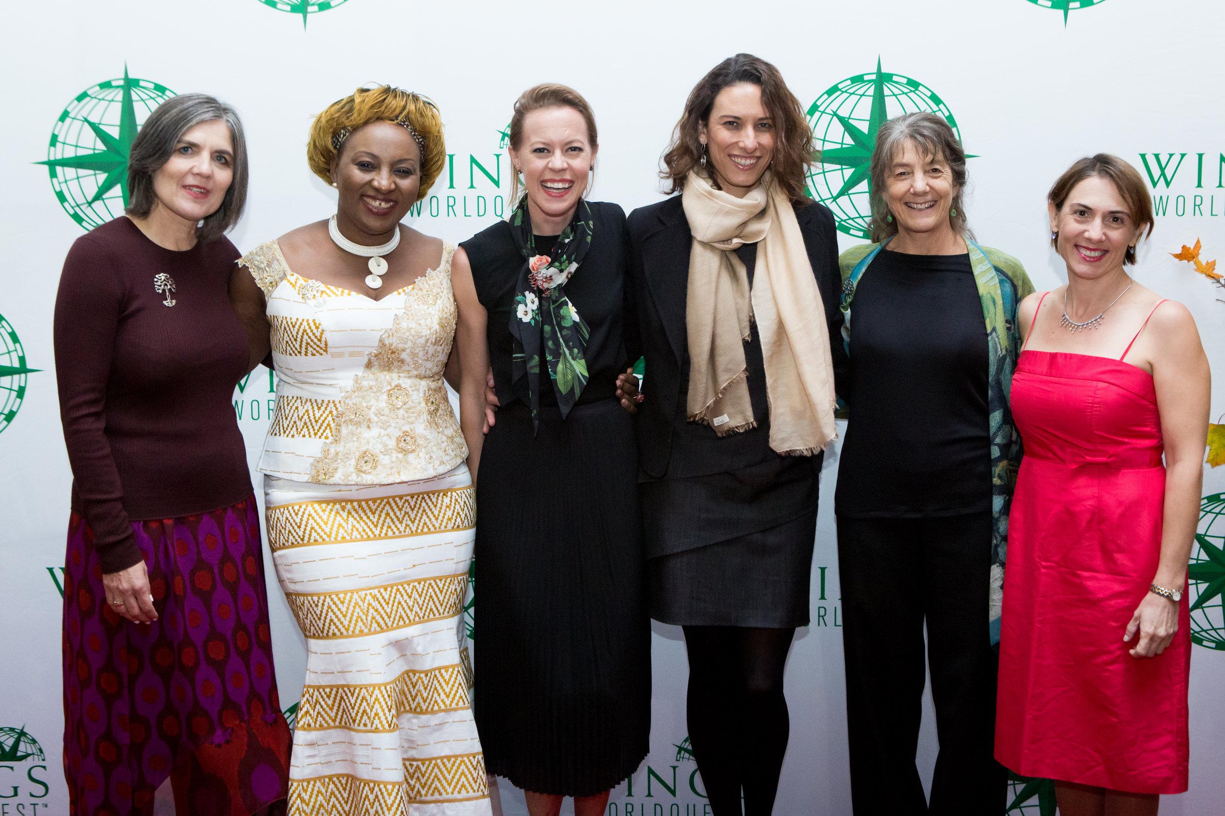 2016 Women of Discovery from Left to Right: Beate Liepert, Sheila Ochugboju, Kristen Marhaver, Juliana Machado Ferreira, Marla Spivak, Hope Jahren