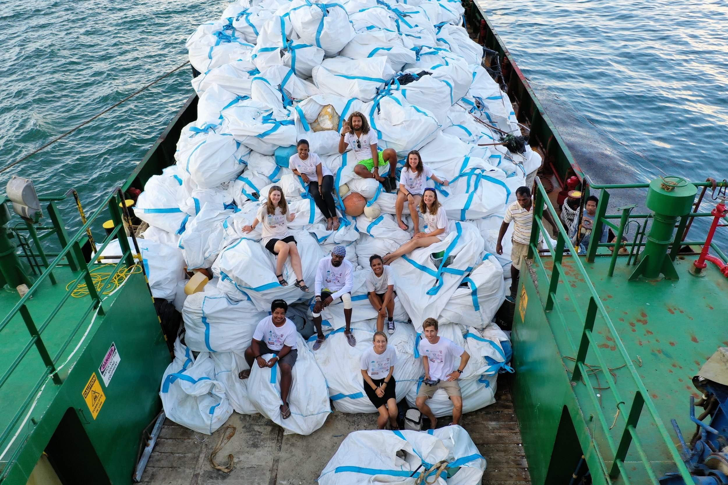 April Burt, her team, and over 26 tons of recovered ocean plastic pollution