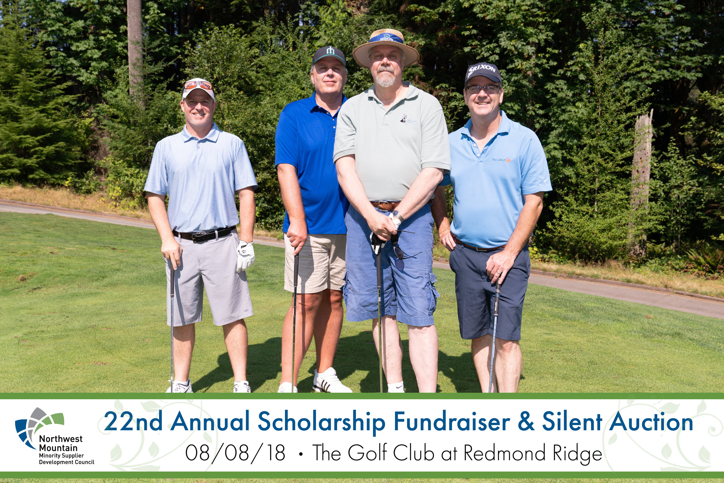 Trio also designed the print fundraiser programs, and the photography lower third graphics for this year's event.