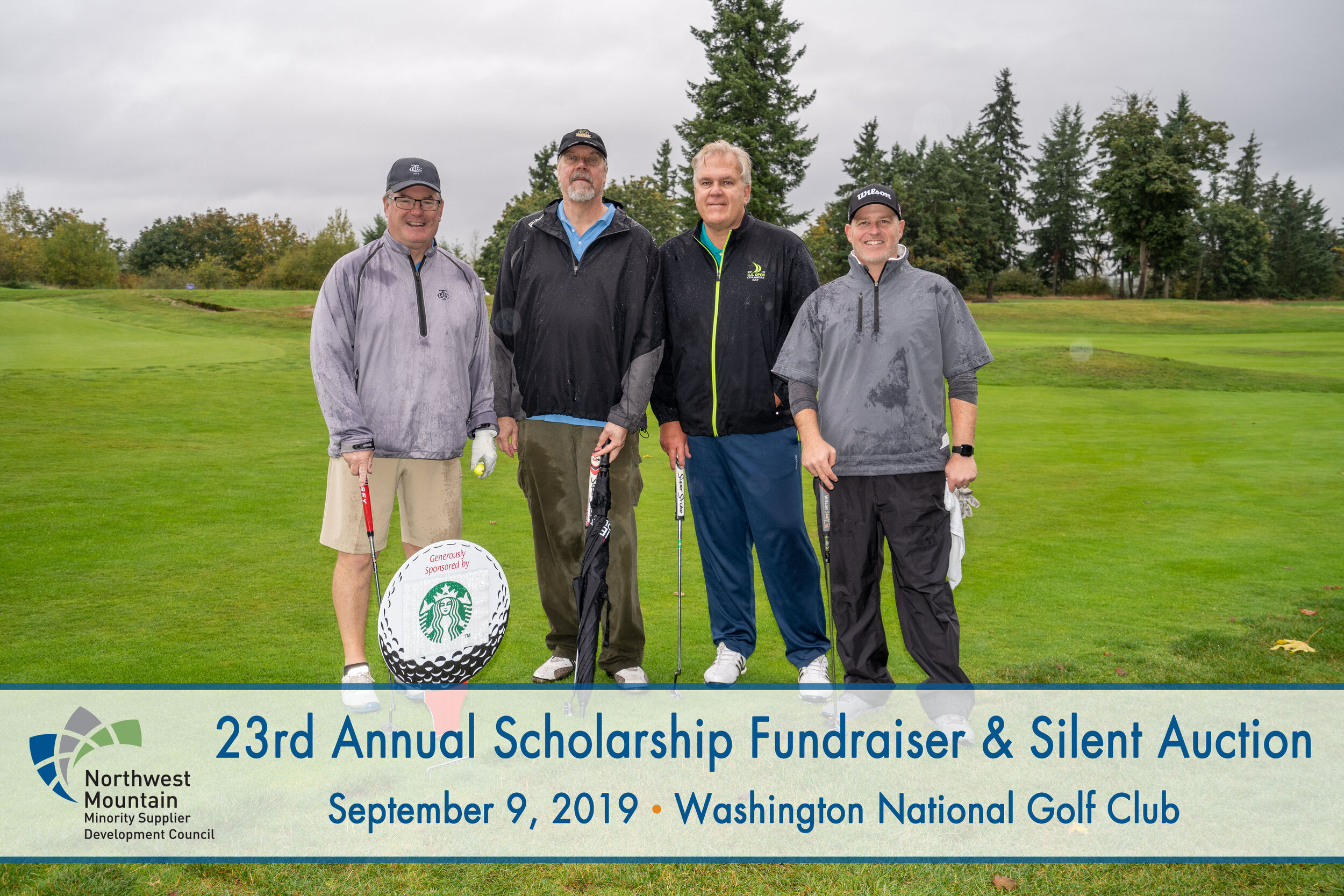Trio braved the rainy weather to support Minority Business Enterprises at the NWMMSDC scholarship fundraiser and silent auction.