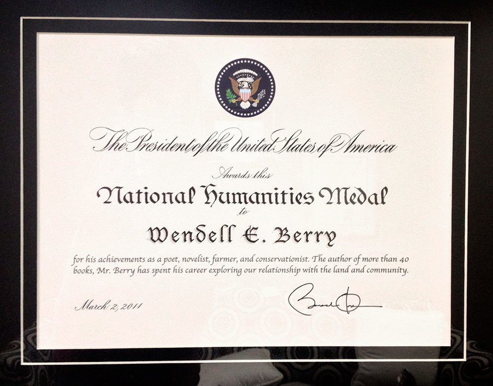 The National Medal of Arts and Humanities is  presented by the President of the United States .
