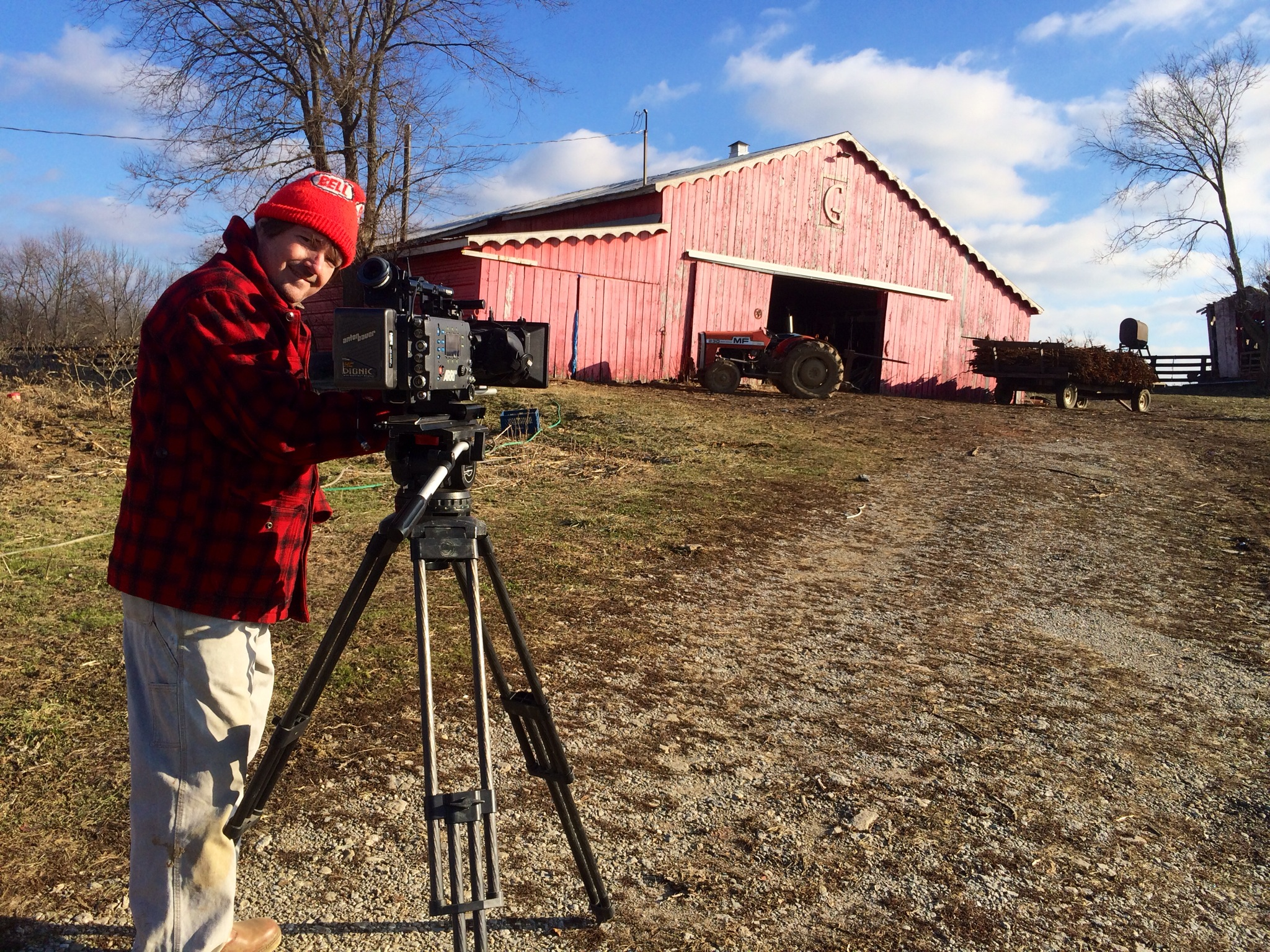 Lee Daniel shooting the Grigsby's in around 20° weather.