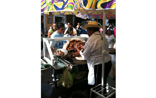 This is in Quiroga Michoacán, where you will find some of the best carnitas!
